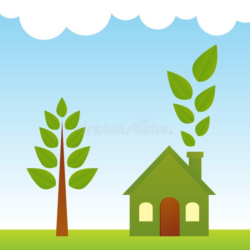 绿色生活 向量例证
