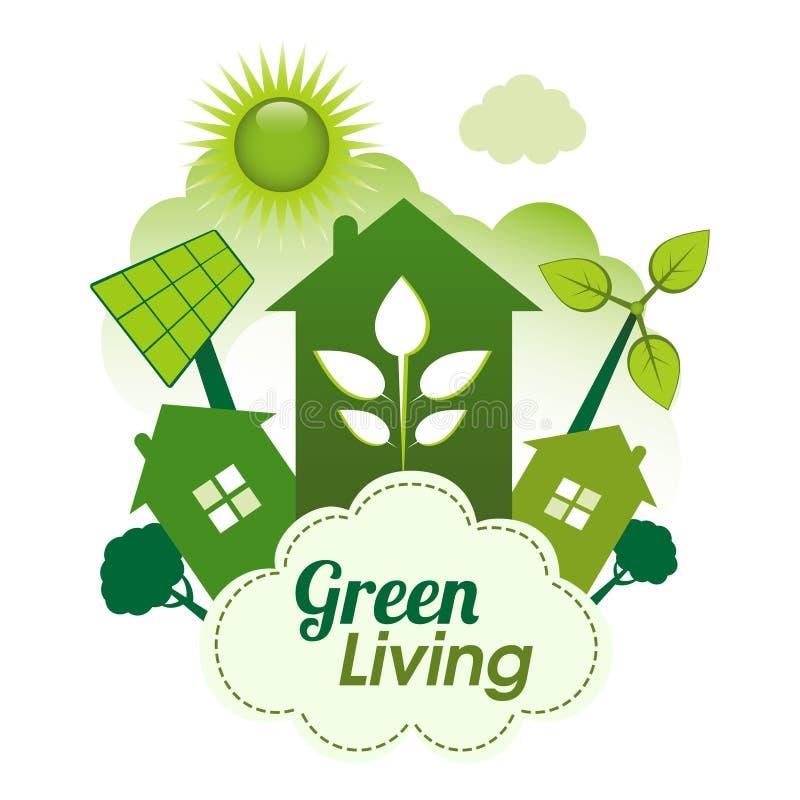 绿色生活 皇族释放例证