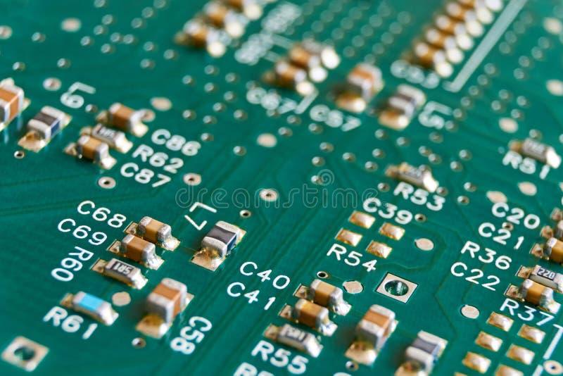 绿色电子计算机电路板 库存图片