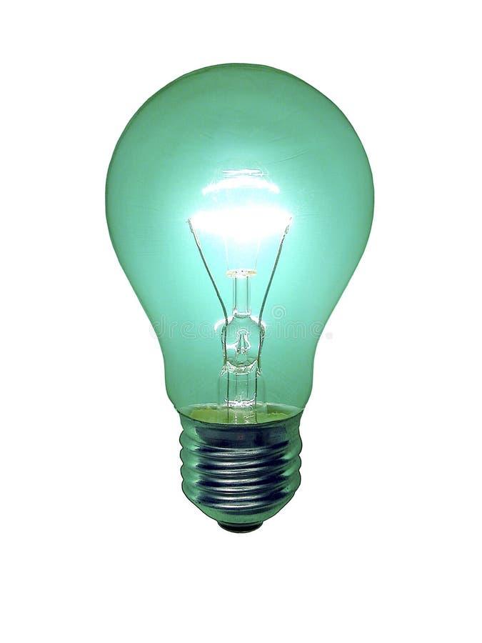 绿色电灯泡 免版税库存照片