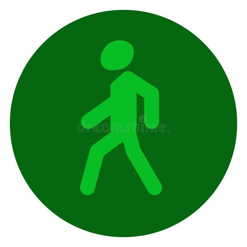 绿色的红灯,允许信号,公路安全 库存例证