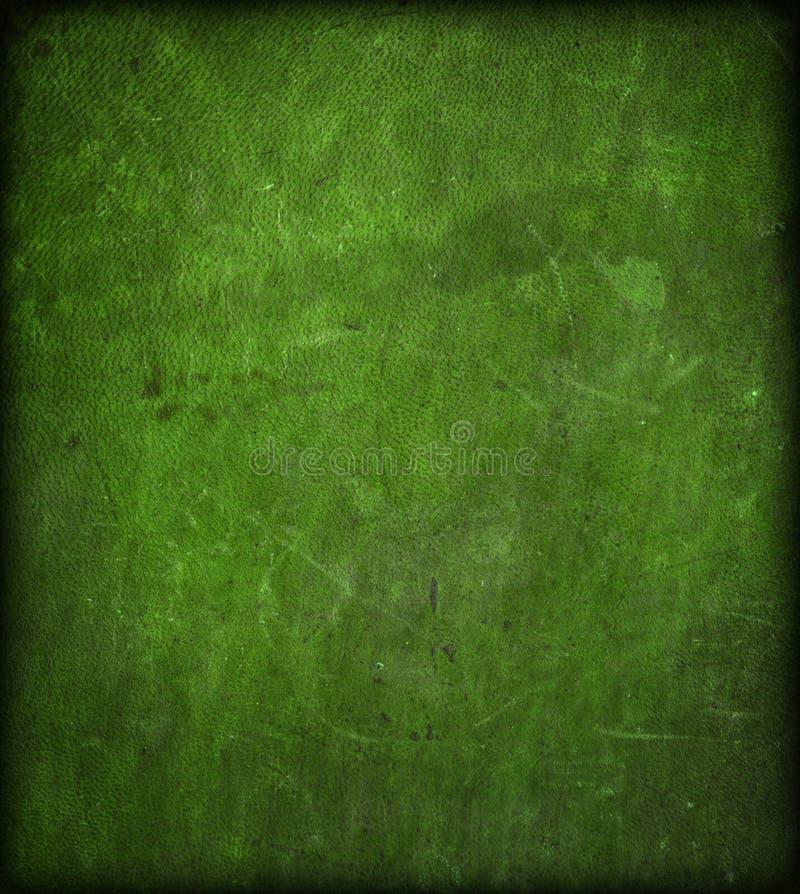 绿色皮革被抓的纹理 免版税库存照片