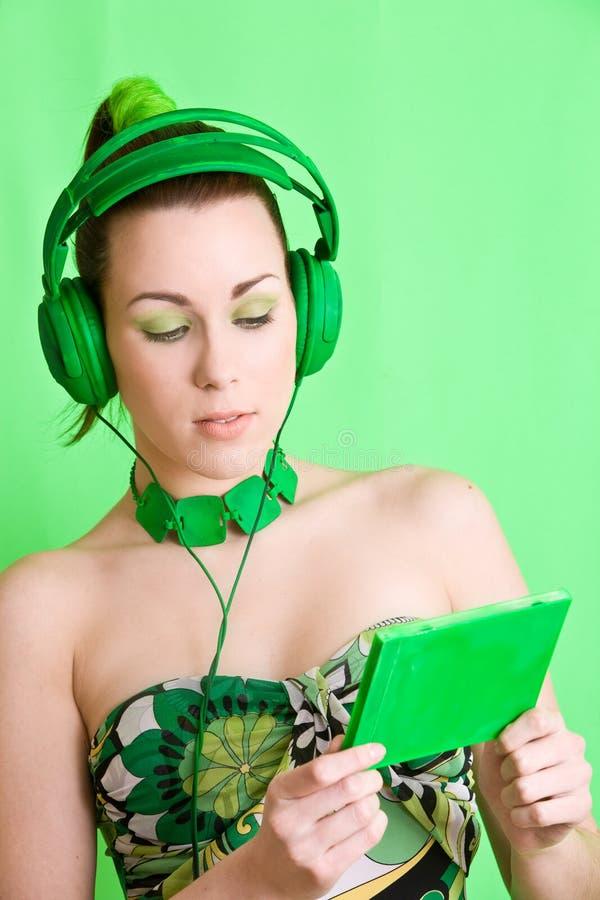 绿色监听程序 库存照片
