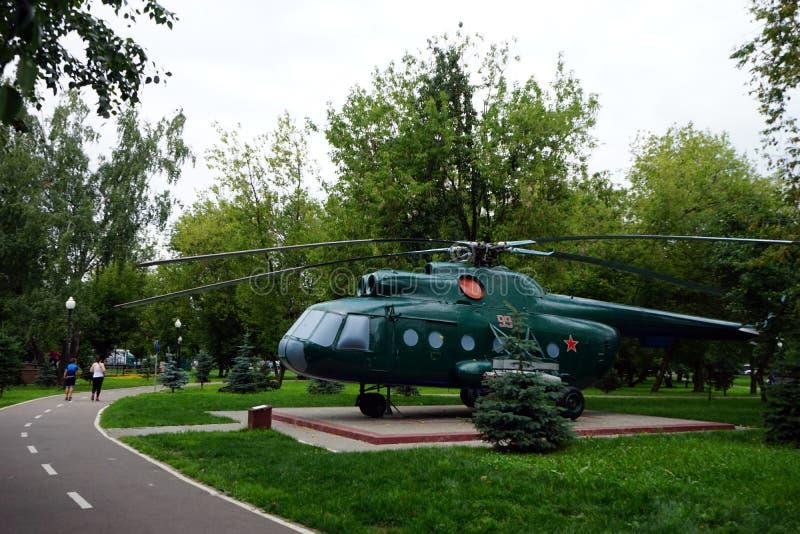 绿色直升机 免版税库存图片