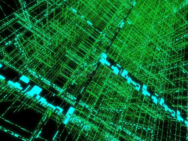 绿色矩阵 向量例证