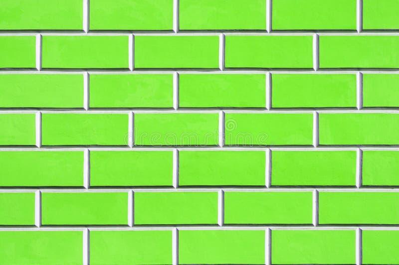 绿色砖墙背景-新的砖墙样式 库存图片