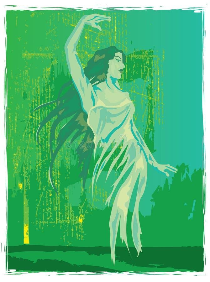 绿色神仙的苦艾 免版税库存照片