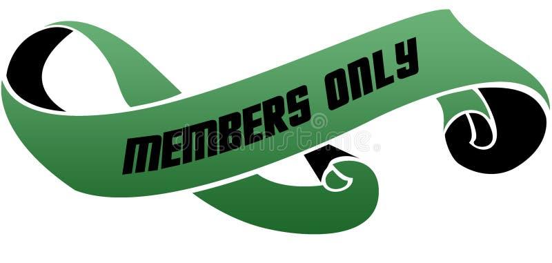 绿色移动了与仅成员消息的丝带 库存例证