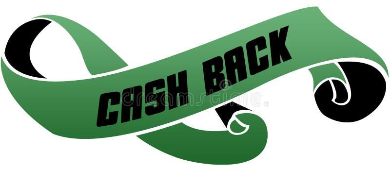 绿色移动了与现金后面消息的丝带 皇族释放例证