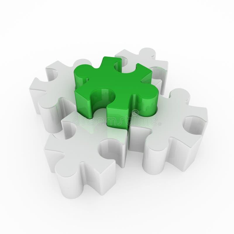 绿色竖锯一难题 库存例证