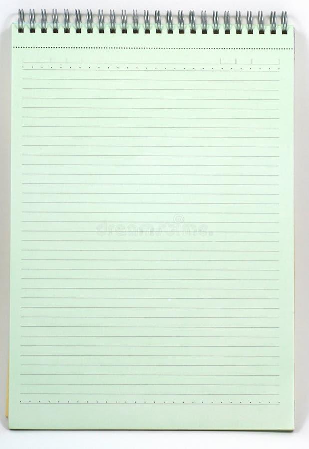 绿色笔记本 免版税图库摄影