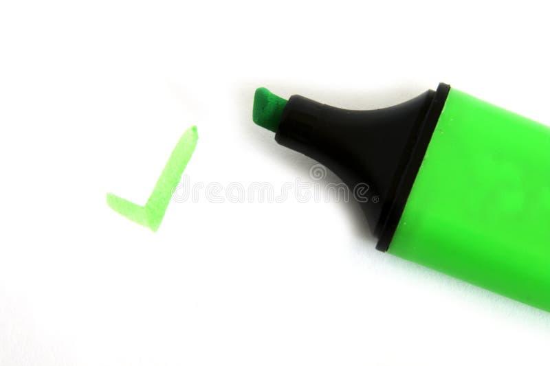 绿色笔 免版税图库摄影