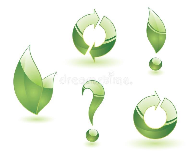 绿色符号向量 库存例证