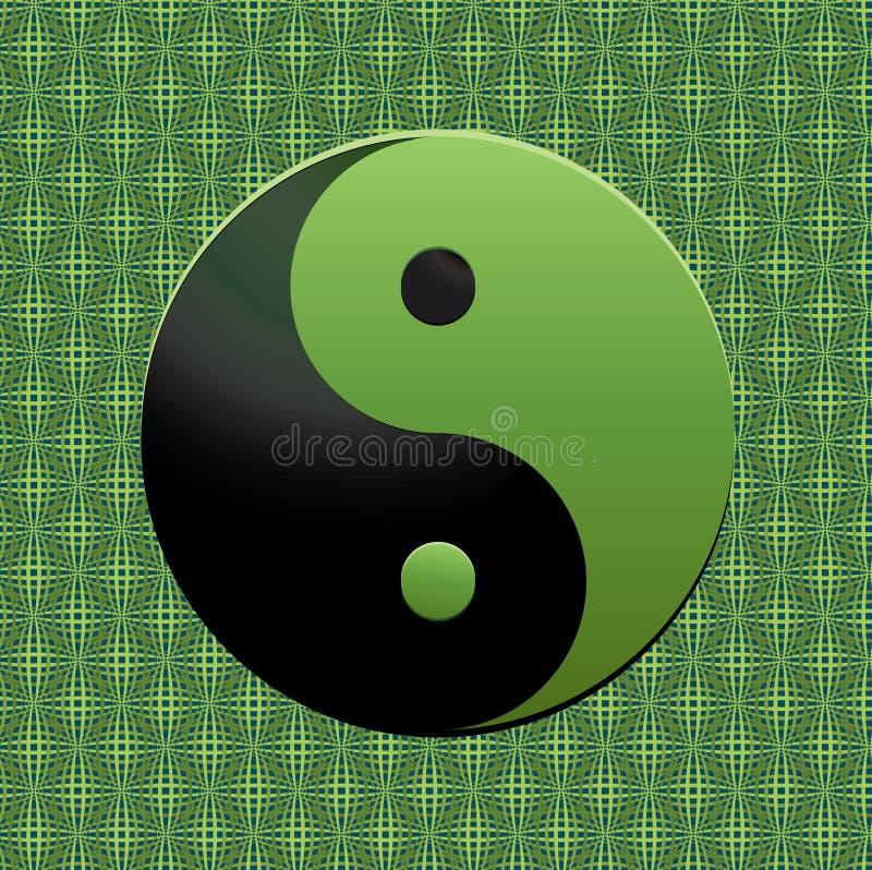 绿色符号ying的杨 向量例证