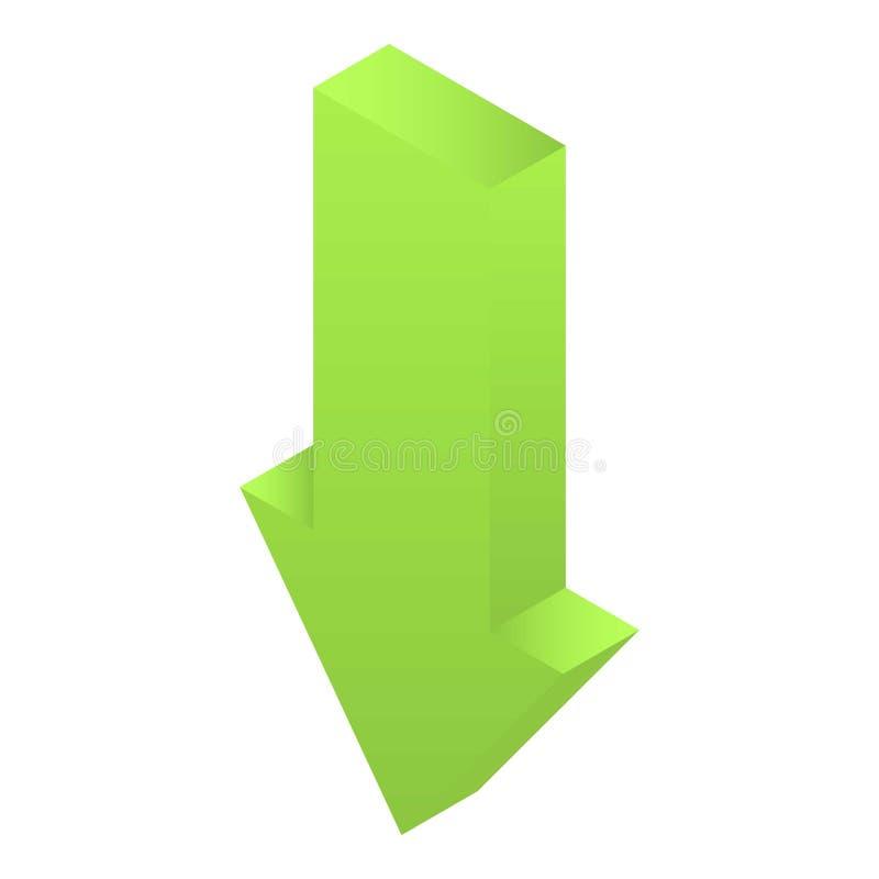绿色箭头地图象,等量样式 库存例证