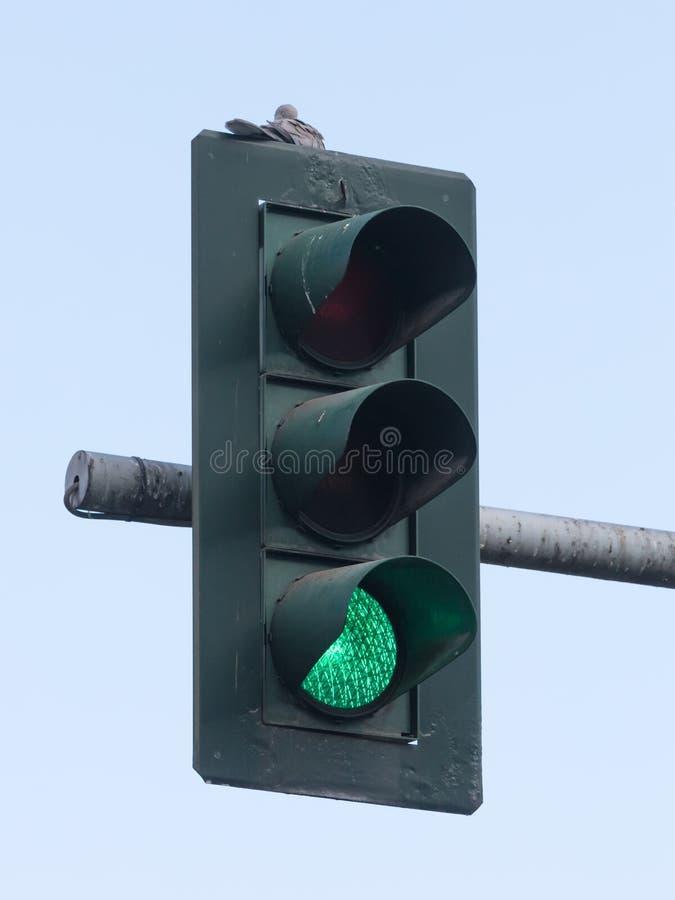 绿色红绿灯 免版税图库摄影