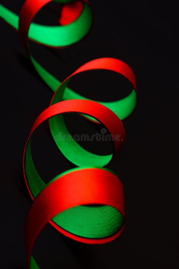 绿色红色流式磁带二 库存图片