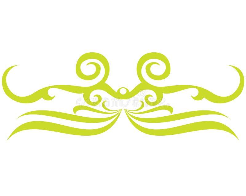 绿色纹身花刺 库存例证