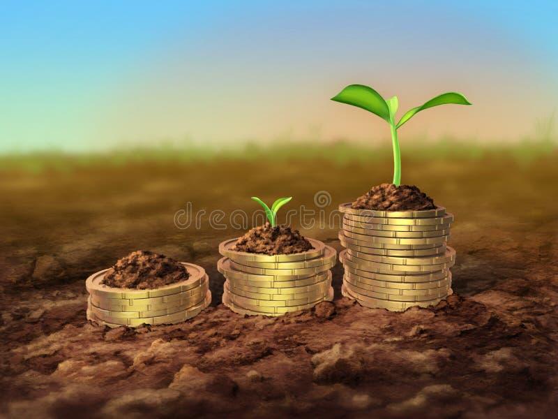绿色经济增长 库存照片