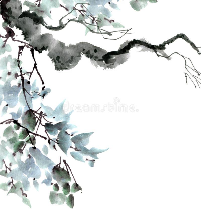 绿色结构树叶子 向量例证