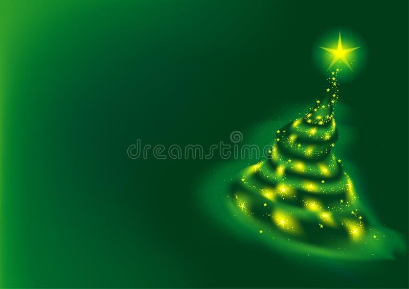 绿色结构树xmas 向量例证