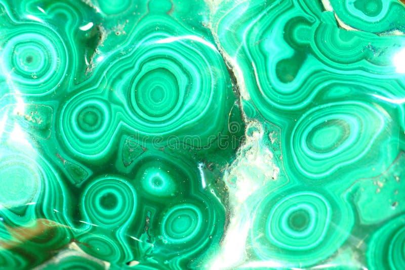 绿色绿沸铜矿物纹理 免版税库存图片