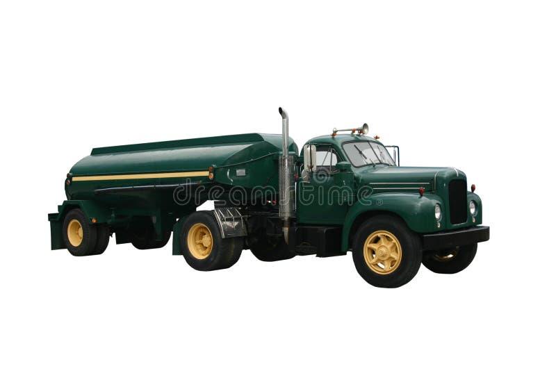 绿色罐车 免版税库存图片