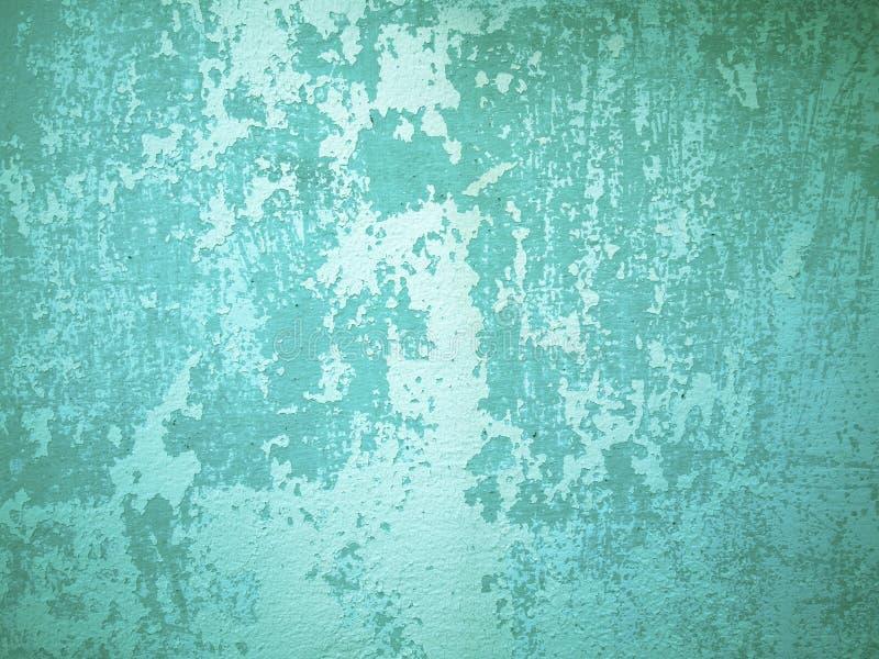 绿色老粗砺的墙壁 免版税库存照片