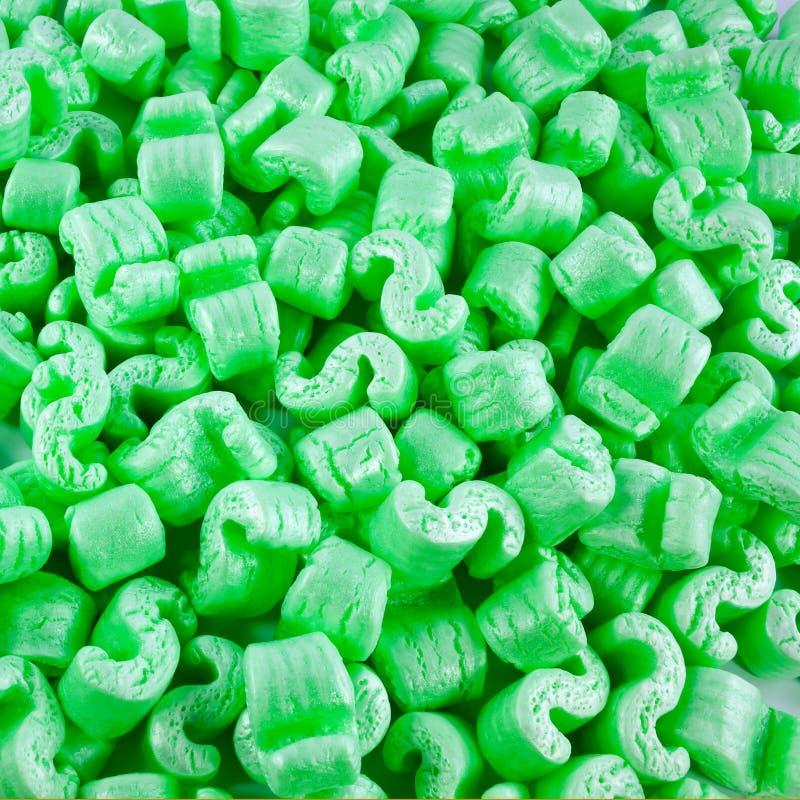 绿色聚苯乙烯泡沫塑料部分 免版税库存图片