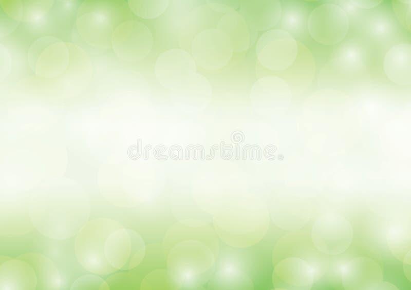绿色背景bokeh闪烁的豪华抽象光闪耀的被弄脏的梯度 向量例证