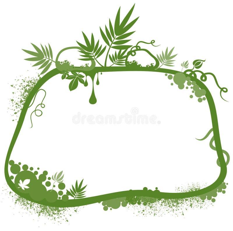 绿色花卉边界 库存例证
