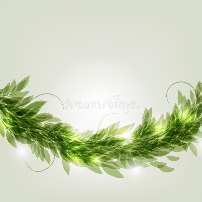绿色花圈 向量例证