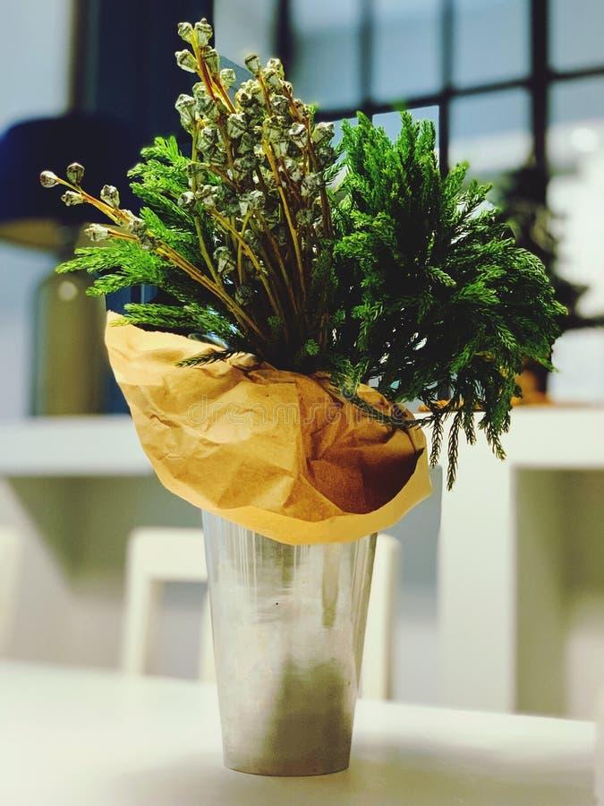 绿色花瓶 库存图片