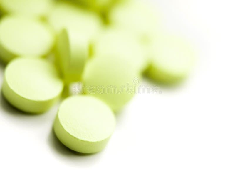 绿色药片 库存照片