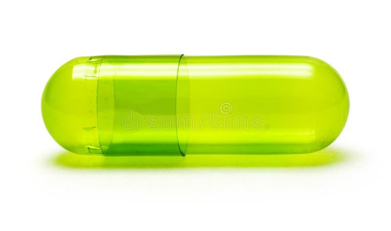 绿色药片 免版税库存照片