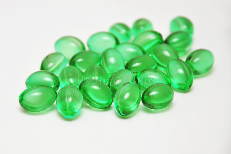 绿色药片 免版税图库摄影