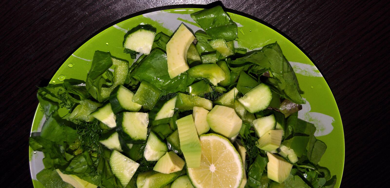 绿色菜 设置各种各样的季节性绿色菜 免版税库存图片