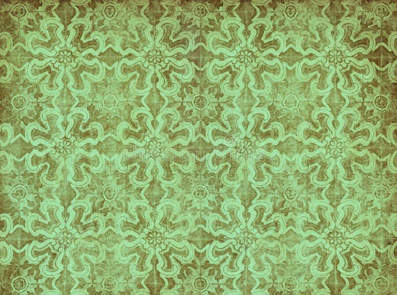 绿色葡萄酒墙纸 向量例证