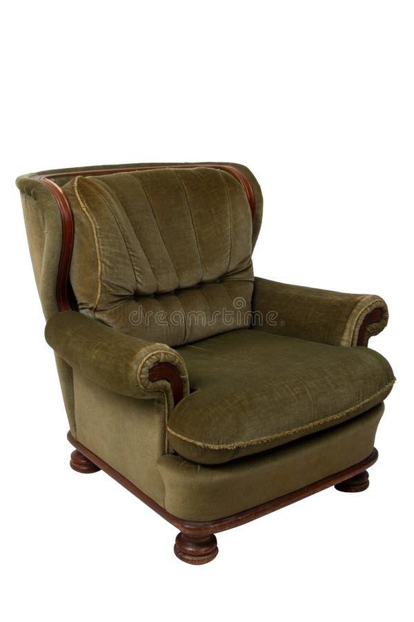 绿色葡萄酒扶手椅子 库存图片