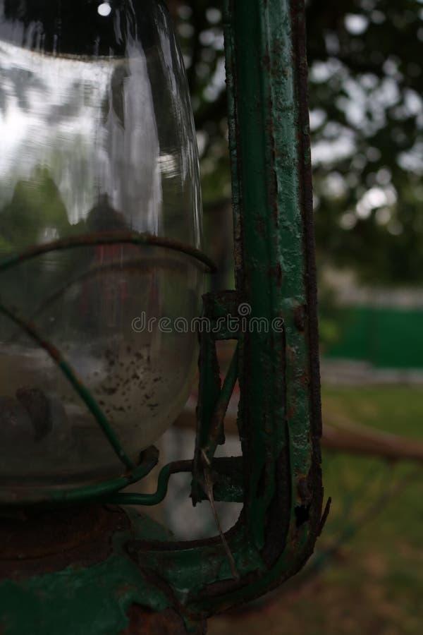 绿色葡萄酒灯 免版税图库摄影