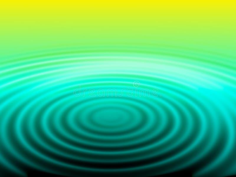 绿色螺旋水黄色 向量例证
