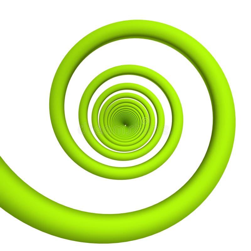 绿色螺旋 库存例证