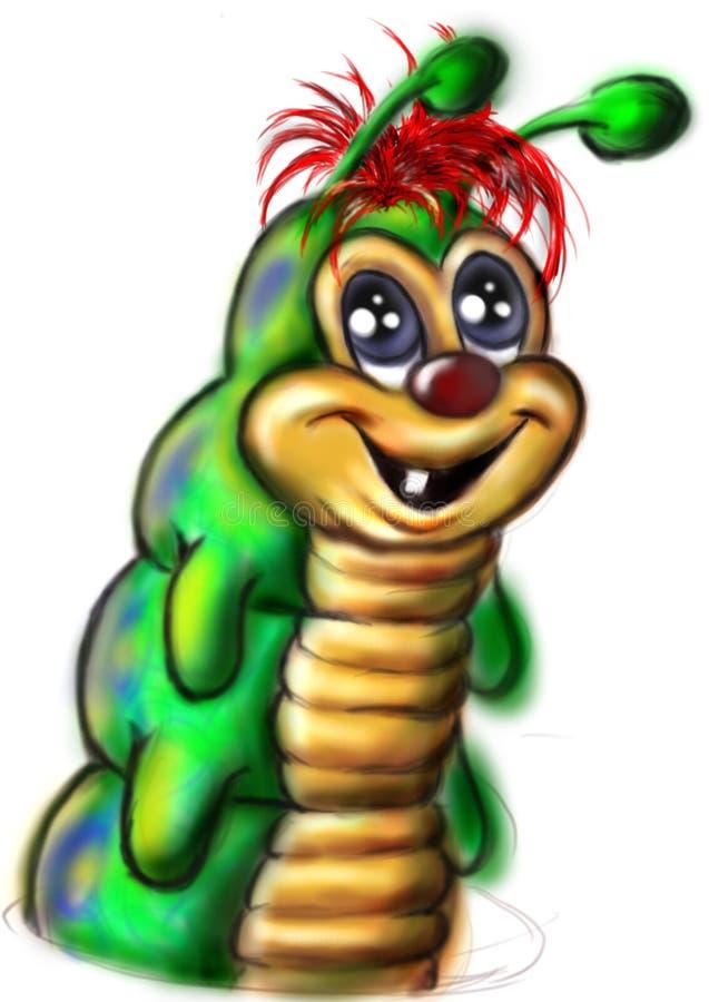 绿色蠕虫 库存照片