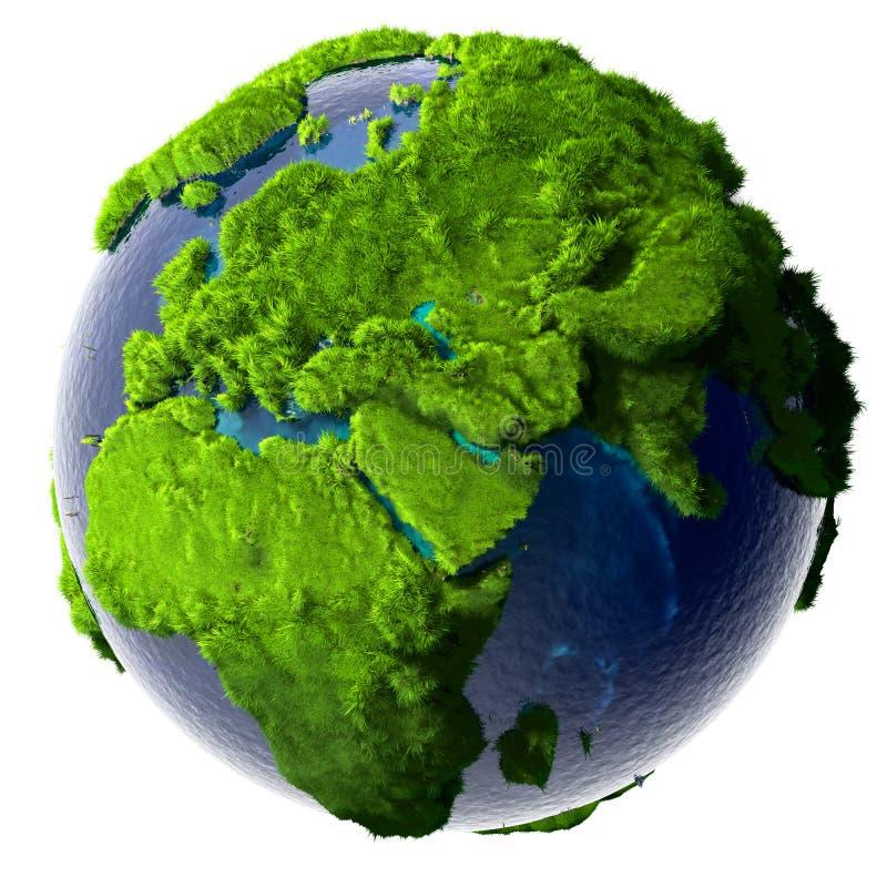 绿色行星地球 向量例证