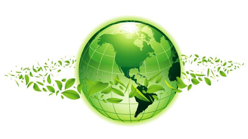 绿色行星 库存例证