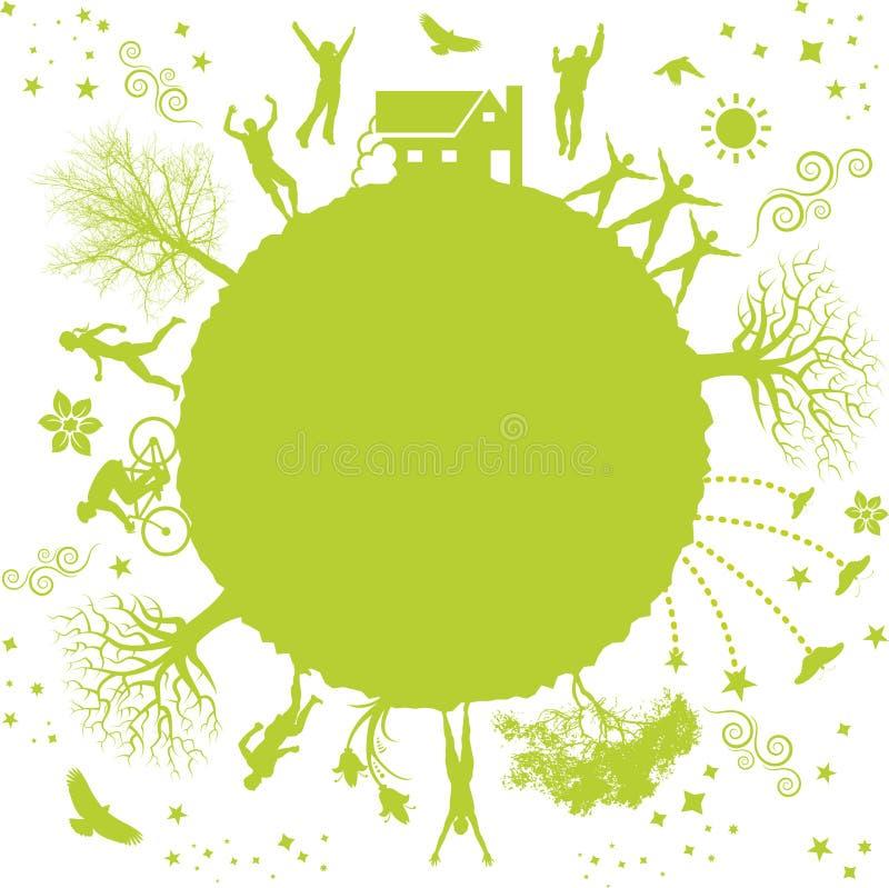 绿色行星 皇族释放例证