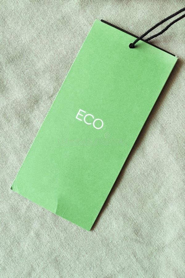 绿色衣裳标记 库存图片