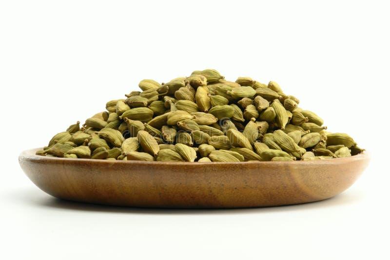 绿色豆蔻果实香料 免版税库存图片