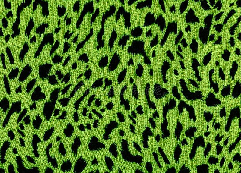 绿色豹子织品样式纹理 图库摄影