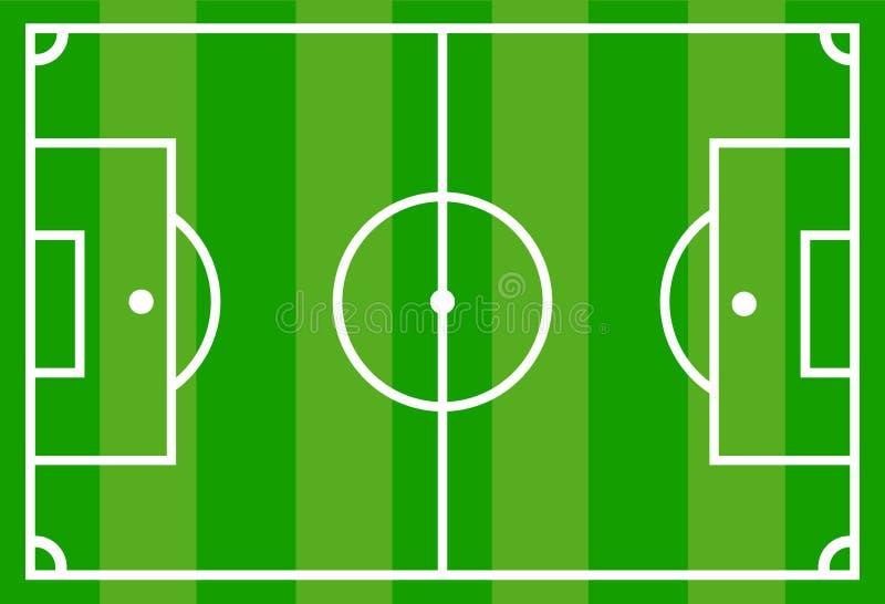 绿色足球橄榄球场,储蓄传染媒介例证 向量例证
